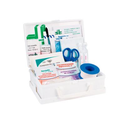 Coffret secours enpolypropylèneblanc - 2/4 personnes