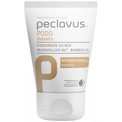 Crème argentés pour les pieds diabétiques - Peclavus