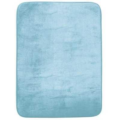 Tapis à Memoire De Forme 50X70cm Bleu JOLETI