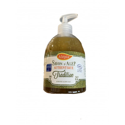 Pouss'Savon liquide d'Alep Authentique 15% de Laurier - 500 mL - Alépia