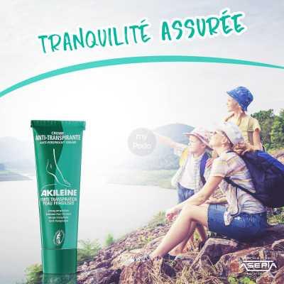 AKILEINE Crème anti-transpirante  Actif Myco-préventif 50 ml
