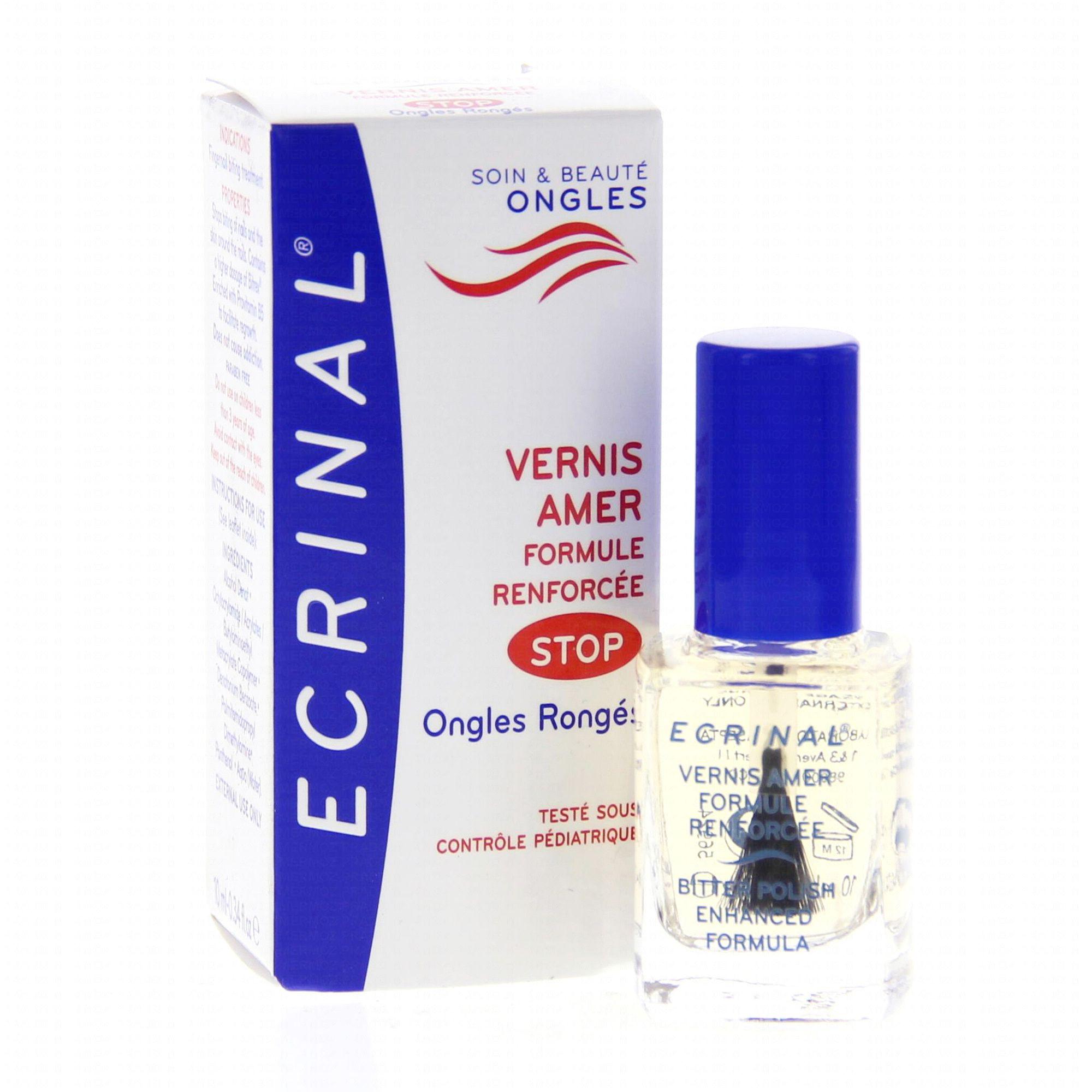 ECRINAL Vernis amer pour ongles rongés 10 ml